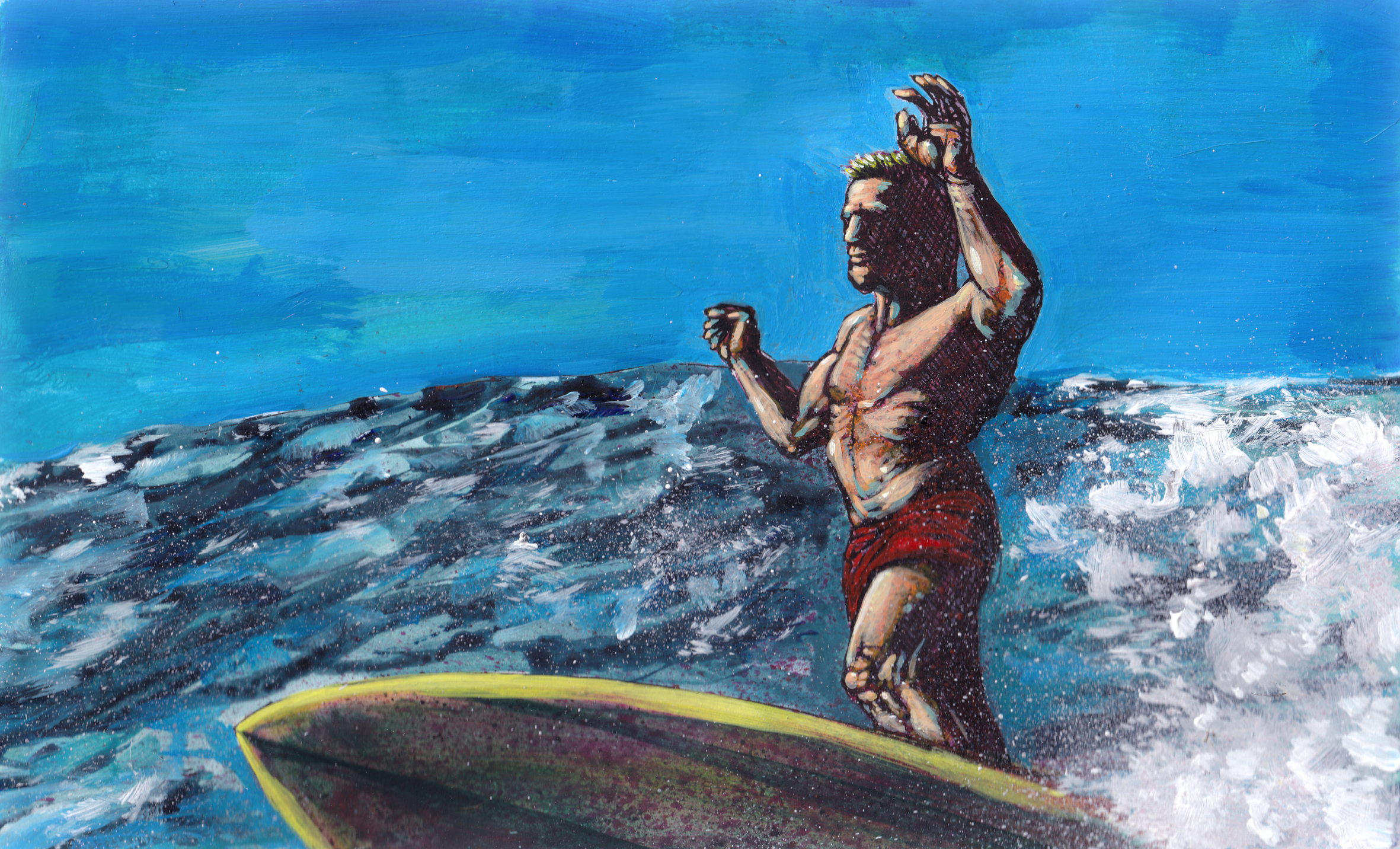 Phil Edwards surfing speedpainting